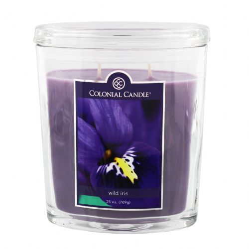 Colonial Candle Large Jar 25oz Luxury Purple Wild Iris Scented Candle